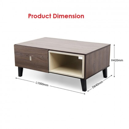 Como Home Coffee Table with storage (CT037) (Included Installation)