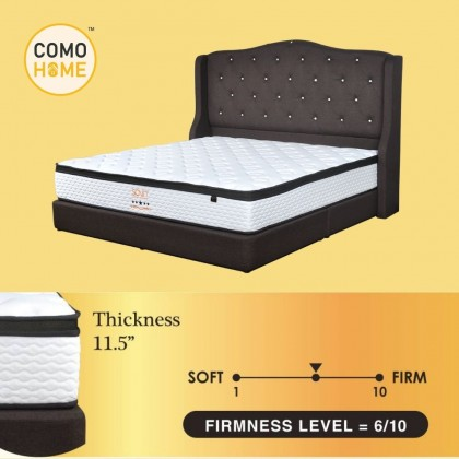 Pocketed Spring Mattress 11.5 inch Luxury 5 Zone Hotel Grade King & Queen (5Star) with 15Y Warranty