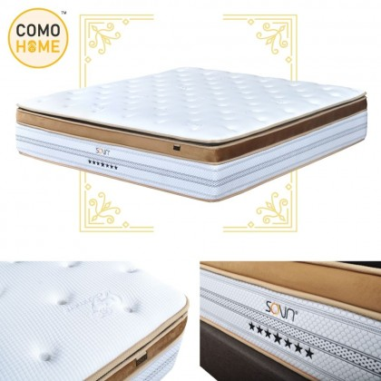 Como Home Hotel Grade 15.5 inch (7Star) Luxury 5 Zone Pocketed Spring Mattress with 15Y Warranty (By Own Logistic)