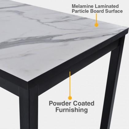 Modern 5ft Bar Table Set + Bar Chair (BFC1560/E90) Breakfast Table suitable for SOHO / Studio Unit