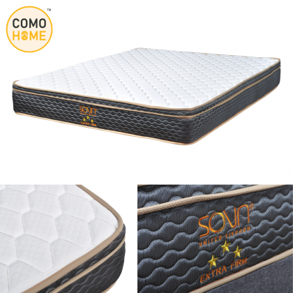 """Bed Set Combo 10"""" Spring Mattress (3Star) + Bedframe (Divan & Headboard) King Size & Queen Size   Free 2 Pillow"""