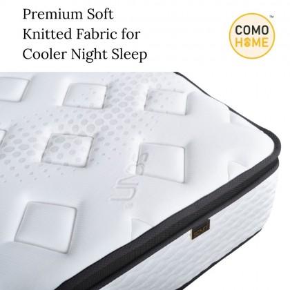 """Bed Set Combo 11.5"""" Spring Mattress (5Star) + Bedframe (Divan & Headboard) King Size & Queen Size   Free 2 Pillow"""