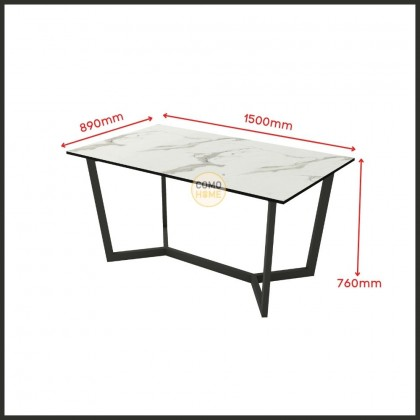 Como Home 5ft Modern Dining Table Set of 6 / 4 (DT1803/E85) Set Meja Makan (Included Installation)