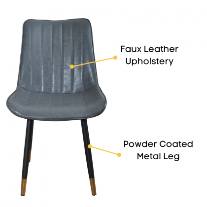 Como Home Chair for Dressing | Dining | Study (01) Faux Leather Upholstery